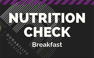 Infographics Breakfast nutrition check