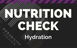 Infographics Nutrition check Hydration
